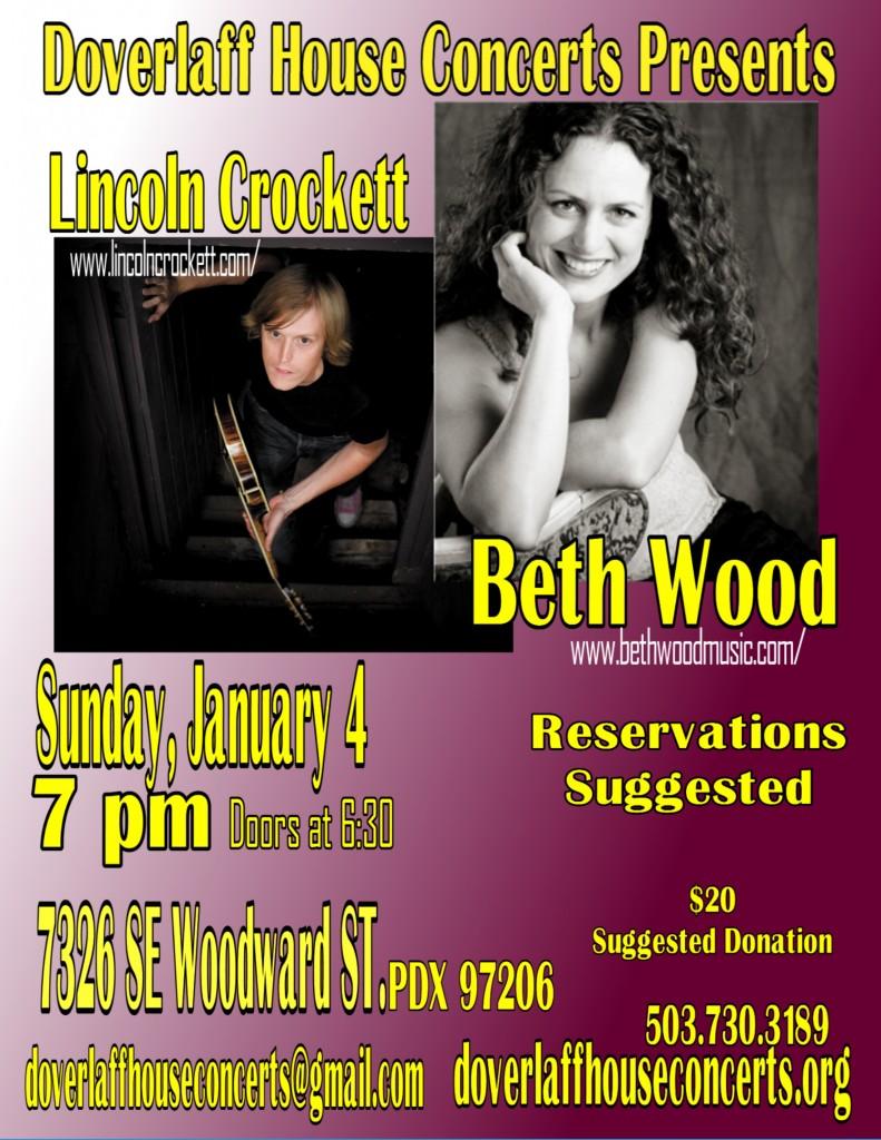 Beth Wood. Lincoln Crockett Poster