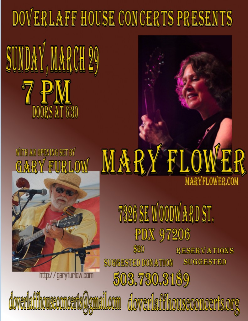 Mary Flower House Concert 2015
