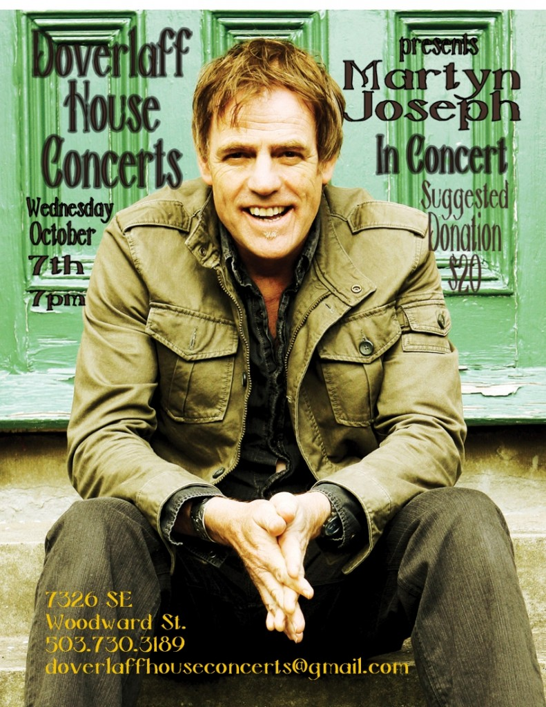 Martyn Joseph House Poster-001